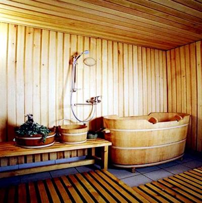 Современная баня изнутри