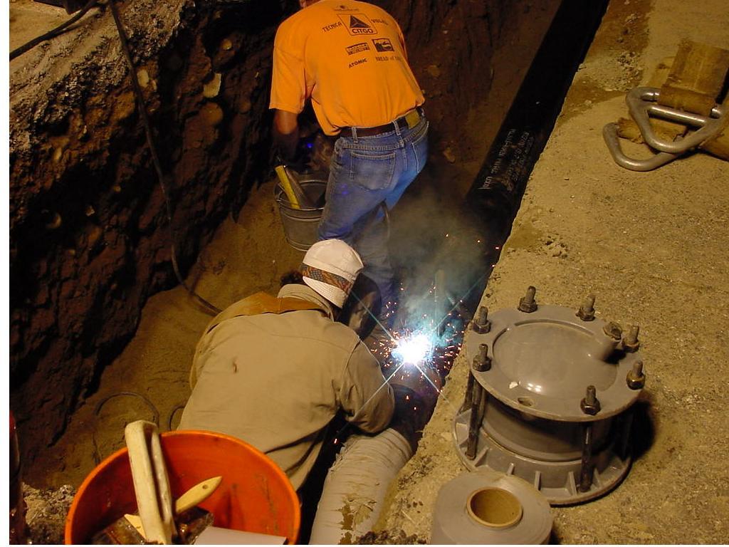 Прокладка наружного водопровода