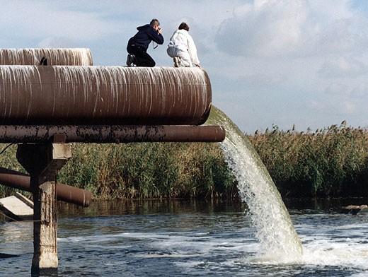 Сбросы отработанной воды из предприятия