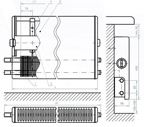 Конструкция водяного конвектора