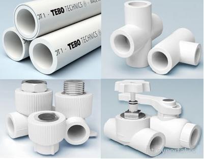 Элементы пластикового трубопровода