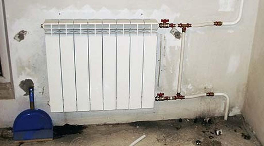 Монтаж алюминиевого радиатора
