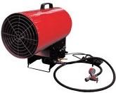 Тепловая газовая пушка для отопления теплиц весной