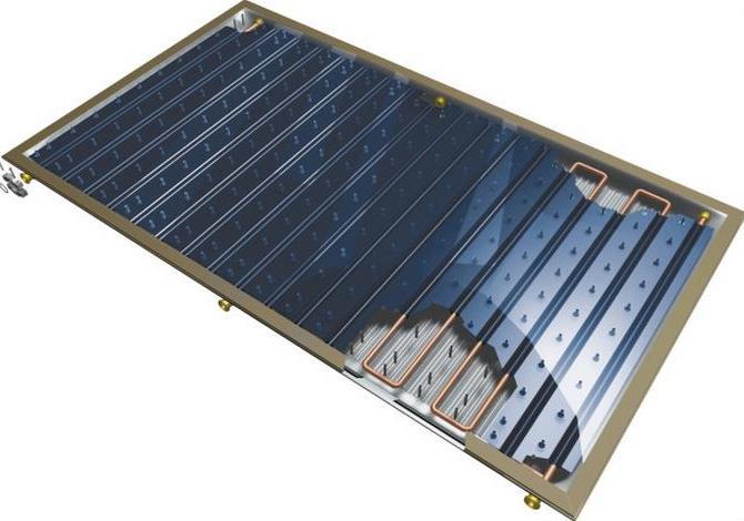 Трубчатый вакуумный солнечный коллектор