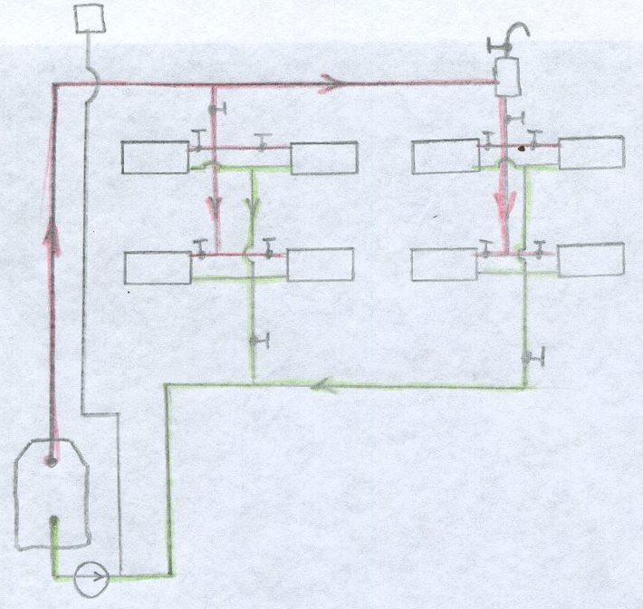 Схема с верхней разводкой