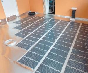 Инфракрасное отопление дома на полу