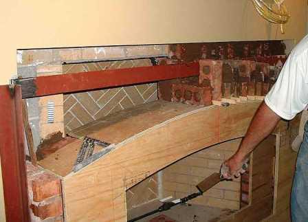 печка-камин для дачи