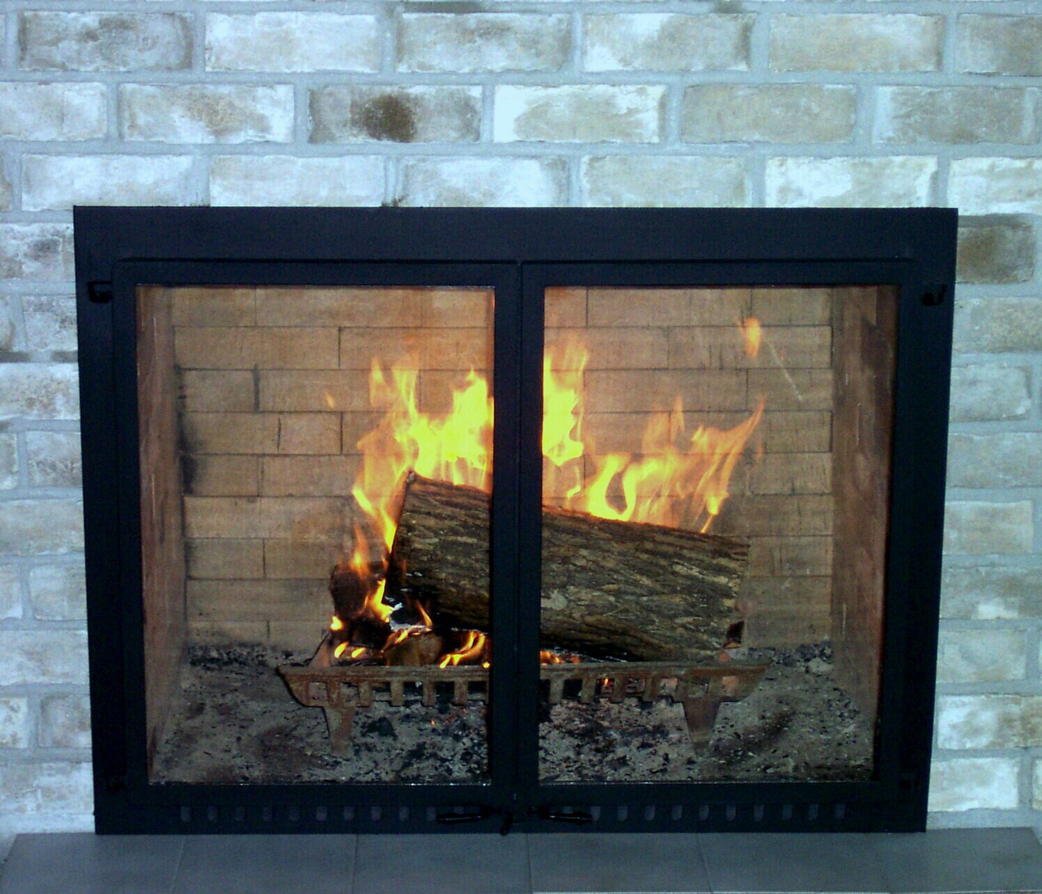 Awesome Modern Glass Fireplace Doors