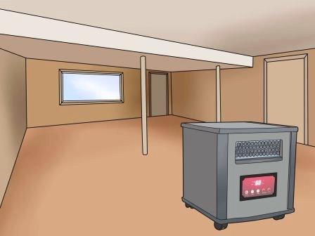 Обогреватель инфракрасный в комнате