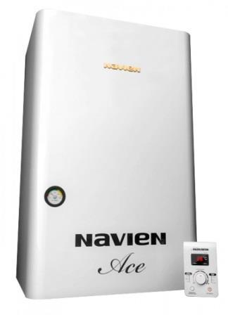 Настенный газовый котел двухконтурный Navien Ace - 24A White.