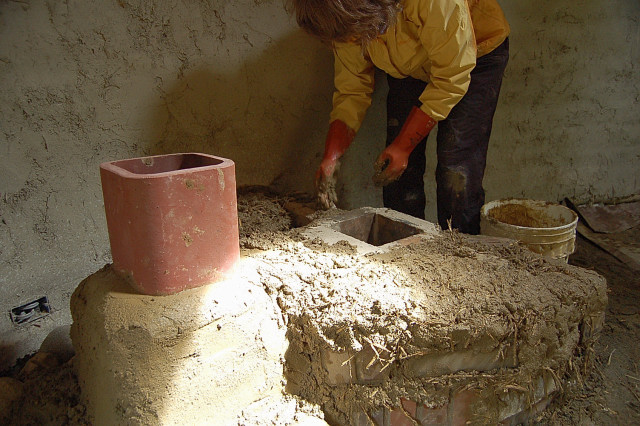 Печь своими руками из глины 35