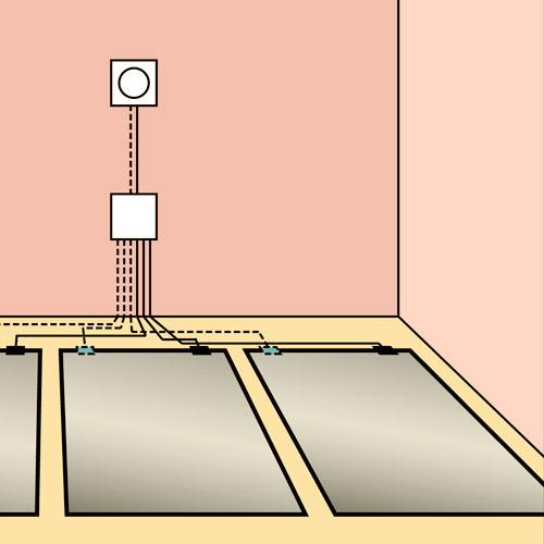 Подключение датчика теплого