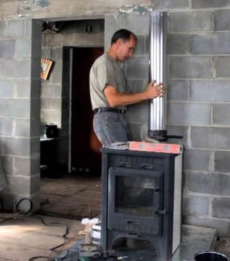 Как установить печь камин своими руками