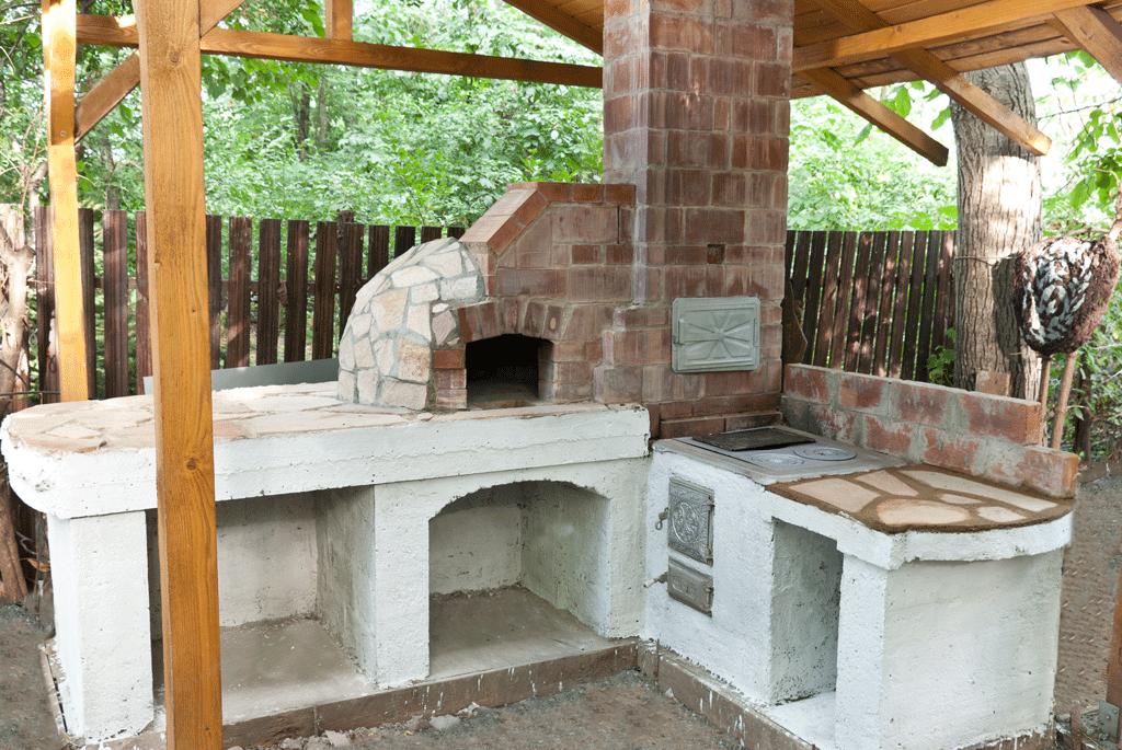 Печка в саду своими руками