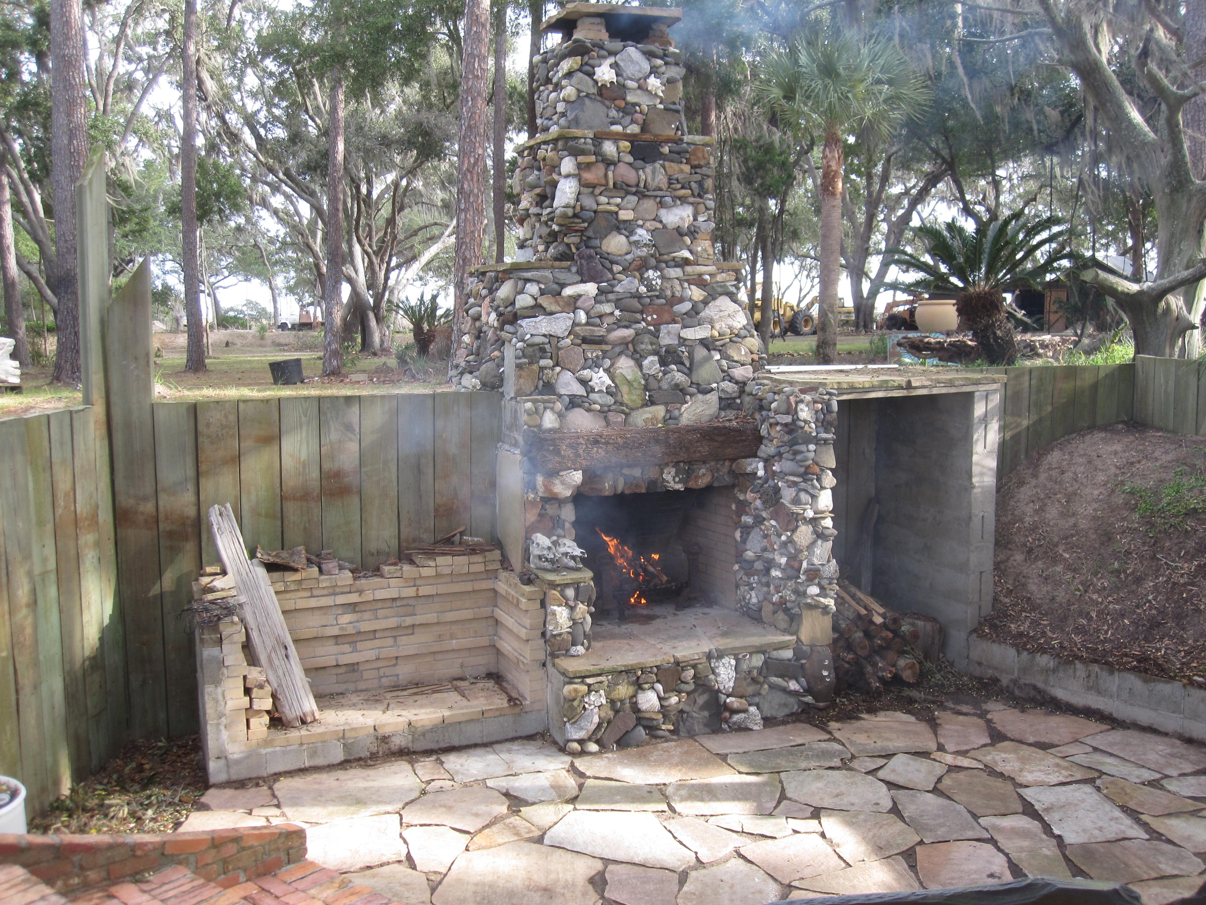 Самодельный камин барбекю