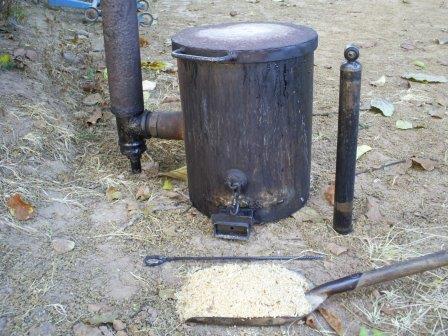 Самодельная печь на опилках